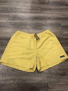"New Patagonia Baggies Shorts Regular Fit 5"" Mens XL Yellow"