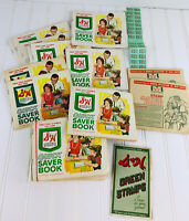 VINTAGE S & H GREEN STAMPS QUICK SAVER BOOKS FULL And Never Used Lot