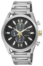 Citizen Eco-Drive Men's CTO Chronograph Black Dial 42mm Watch CA0660-54E