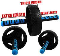 UK Warrior Tri Ab Roller Wheel Abdominal Exercise Gym Strength Training Fitness