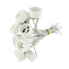 20er Set Fassungen GU10 für Halogen, LED Lampe Sockel Fassung Keramik m.Kabel T1