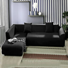 L-Shape Sofa Removable Stretch Sofa Slipcover Couch Pillow Covers 5 Pure Color
