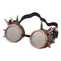 Spiked Vintage Steampunk Goggles Glasses Welding Cyber Punk Gothic Cosplay OW