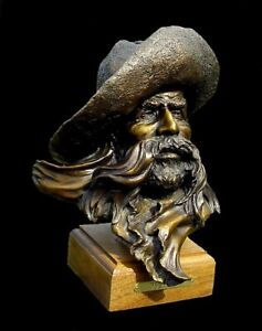 "Jerry (J.D.) McKellar Bronze ""Trail Boss"" Sculpture Bust"