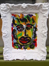 Acrylic Small (up to 12in.) Portrait Art Paintings