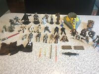 Star Wars Loose Figures And Accessories Lot Mixed 90's-00's