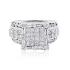 18k White Gold 1.75ctw Diamond Illusion Ring