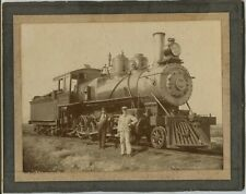 Superior Wisconsin Great Northern Railroad Brooks Steam Engine Cabinet Photo