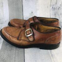 VTG USA Allen Edmonds Cornell 38852 Brown Leather Monk Strap Mens Shoes Sz 8 D