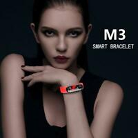 M3 Bluetooth IP67 Waterproof Heart Rate Monitor Fitness Tracker Smart Band Color
