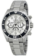 NEW Mens Invicta 7368 Signature Chronograph Silver Dial Stainless Steel Watch