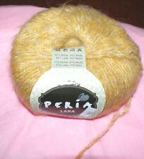 Peria Lara Mohair & Metallic Yarn Gold & Gold Metallic Knit Crochet Craft