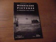 """, September, 1938 Hurricane Booklet, ,Greater Fall River, Mass. """""""