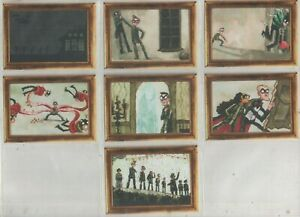 """The Umbrella Academy Set of 7 """"Heist at the Museum"""" Trading Cards No's M1 to M7"""