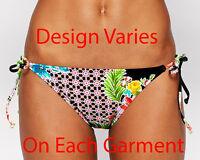 Bikini Lab Junior Women's Hot and Gold String Tie Side Bikini Bottom Size Medium
