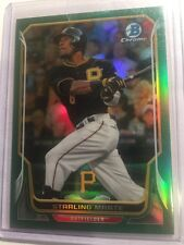 Starling Marte 2014 Bowman Chrome Green Refractor #d 20/75 Pittsburgh Pirates