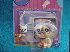littlest pet shop new  bulldog mommy and baby #3587 & #3588 Shipping with Polish