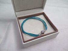 New Pandora Teal Small Multi Strand Cord Bracelet 590715CTUM M1 Gift set option