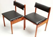 Pair of Retro Danish Style Teak Dining Chairs [5437]