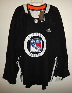 NWT 58 G ADIDAS NEW YORK RANGERS NHL HOCKEY AUTHENTIC PRO PRACTICE JERSEY $280