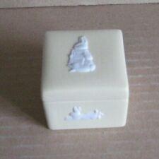Wedgwood Jasperware Yellow Peter Rabbit Square Pill Pot