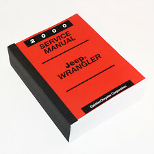 Jeep Shop Manual 2000 New Factory Service Manual