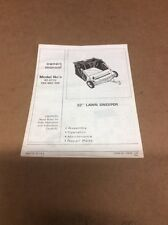 "32"" Lawn Sweeper Model 42-0172 Owners Manual"