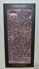 VICTORIA'S SECRET PINK GLITTER IPHONE 6 HARD CASE SLEEVE WITH MIRROR CARD HOLDER