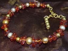 Amber Handmade Beaded Costume Bracelets