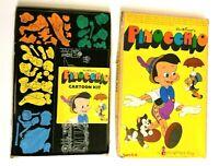 Vintage Walt Disney Productions Pinocchio Colorforms Kit w/ Booklet - COMPLETE