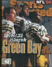 Reggie White Brett Favre Robert Brooks Signed Sports Illustrated Packers PSA/DNA