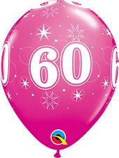 Age 60 - Happy 60th Birthday Qualatex Balloons %7bHelium Party Balloons Boy/Girl%7d