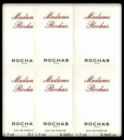 MADAME ROCHAS EAU DE PARFUM RARE! 6 x 1.7ml EDP SAMPLE VIALS NEW