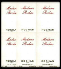 MADAME ROCHAS EAU DE PARFUM RARE! 6 x 1.7ml EDP SAMPLE VIALS NEW