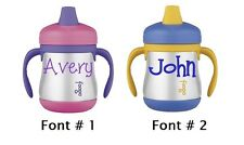 One Personalized Name Decal Sticker for Sippy Cup