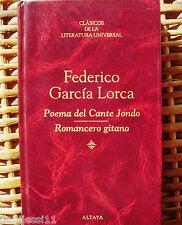 Federico García Lorca/Poema del Cante Jondo/Romancero gitano/ Altaya/ 1994