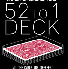 The 52 to 1 Deck Red (Gimmicks and Online Instructions) by Wayne Fox and David P