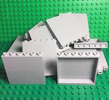 Lego New Bulk Light Bluish Gray Panel 1x6x5 Stone Grey X10 Pieces Wall Parts Lot