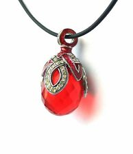 Faberge Egg Pendant Red
