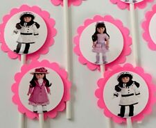 30 AMERICAN GIRL DOLL SAMANTHA Cupcake Toppers Birthday Party Favors 30