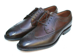 New Allen Edmonds McGregor Brown Leather Wingtip Brogue 4553 SZ 8.5E