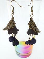 Black lily earings
