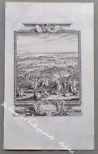 """LOMBARDIA – CASSANO. """"The battle of Cassano 1705"""". Incisione su rame, circa 1750"""
