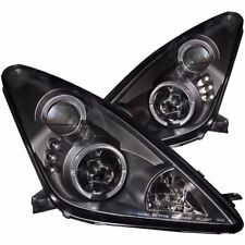 Aftermarket Headlight Pair L+R (Black, Halo) For 2000-2005 Toyota Celica