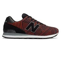 New Balance 574 Black/Red ML574TBE Mens Running Shoes Size 8