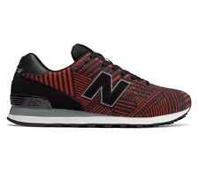 New Balance 574 Black/Red ML574TBE Mens Running Shoes Size 9.5