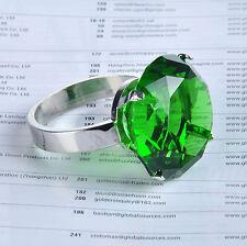 4 Green Diamond Napkin Ring Serviette Holder Wedding Banquet Dinner Decor Favor