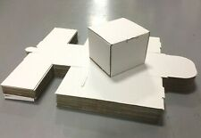SHIPPING BOXES  25 pcs. Small White 4 1/4 x 4 1/8 x 3 1/2 I.D. Tab Lock