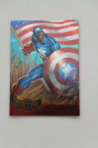 1995 Fleer Metal Marvel Captain America Gold Blaster # 2 of 18