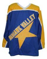Custom Name # Mohawk Valley Star Retro Hockey Jersey New Blue Any Size